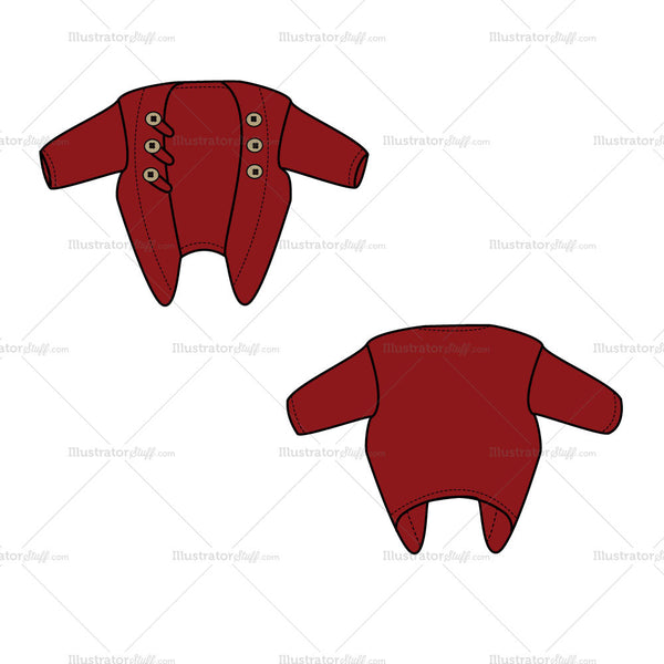 {Illustrator Stuff} Women's Sweater Shrug Fashion Flat Template