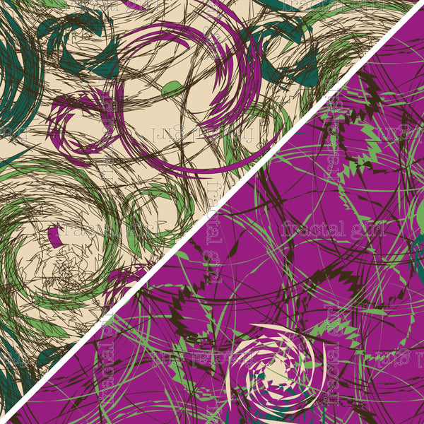 {Illustrator Stuff} Fractal Girl: Sketchy Swirly Repeating Pattern