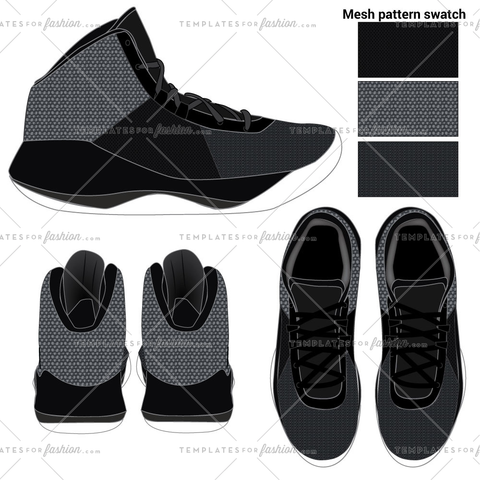 Sneaker Fashion Flat Templates