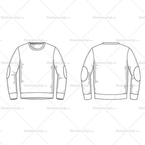 Men's Sweater Fashion Flat Template