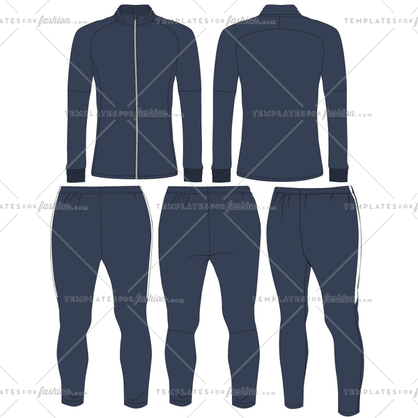 Men's Track Suit Fashion Flat Templates