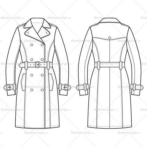 """Products – tagged """"trench coat"""" – Templates for Fashion"""