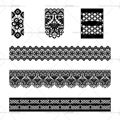 trim embroidery lace brushes