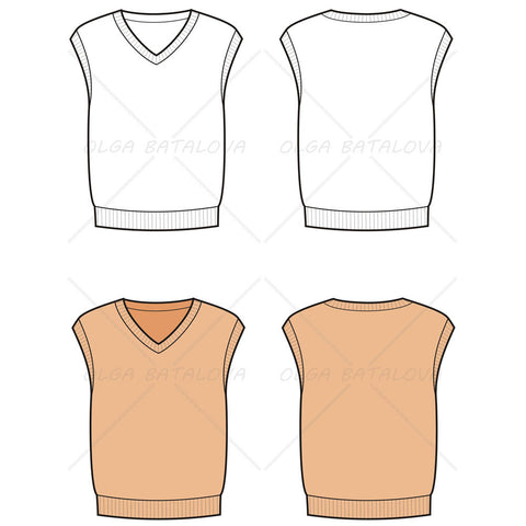 Products tagged sweater illustrator stuff for Vest top template