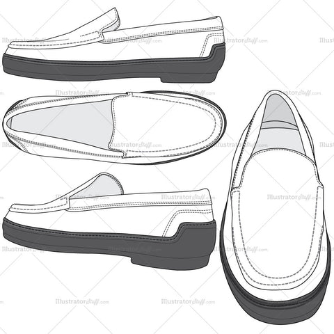 Women's Loafer Fashion Flat Templates
