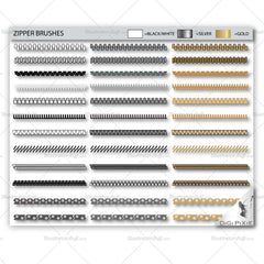 Zipper Pattern Brushes and Pulls