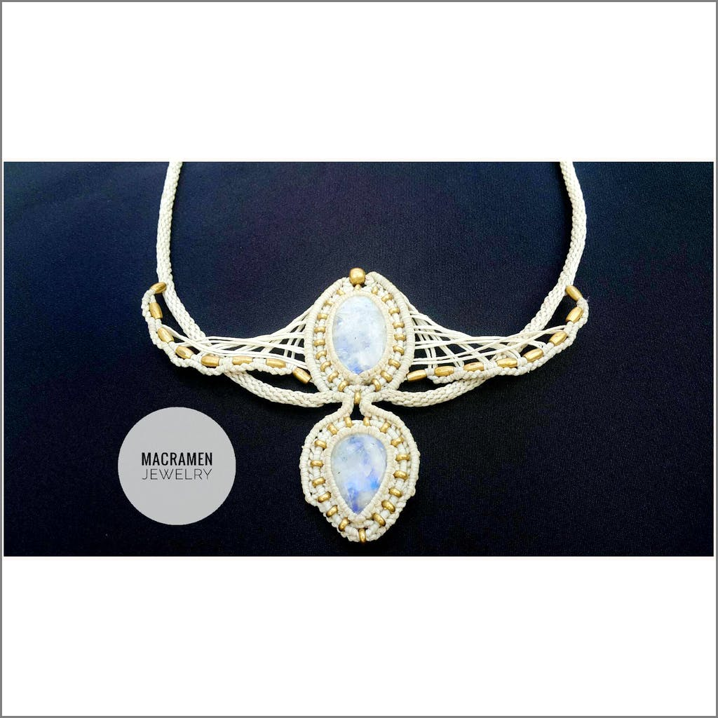 Sea Waves Tiara Crown Necklace Macramen Jewelry No.0122 Free shipping Tiara & Crown Macramen Inc. $215.00 Macramen Jewelry