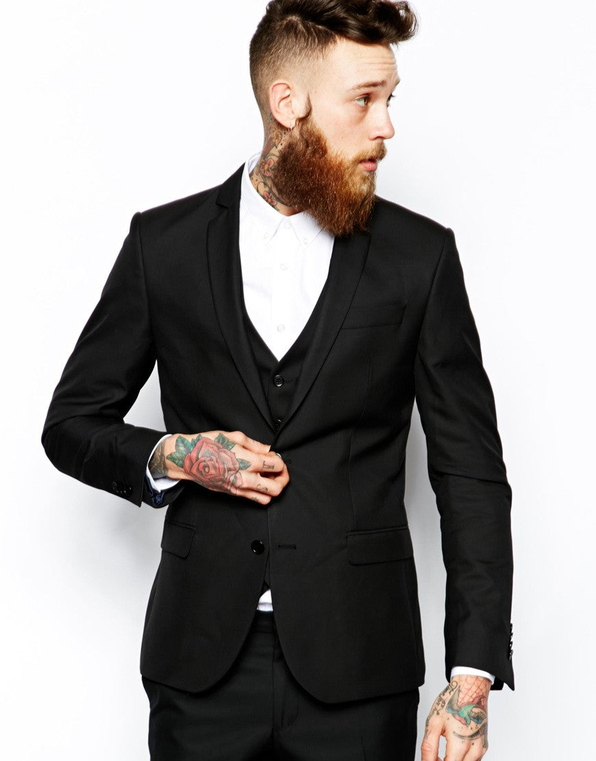 Black Suit Jacket Slim Fit