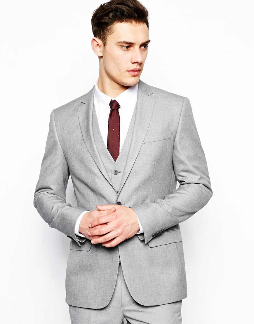 Light Grey Suit Jack In Slim Fit