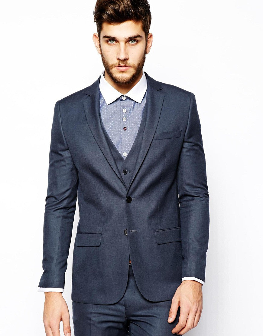 Petrol Suit Jacket Skinny Fit