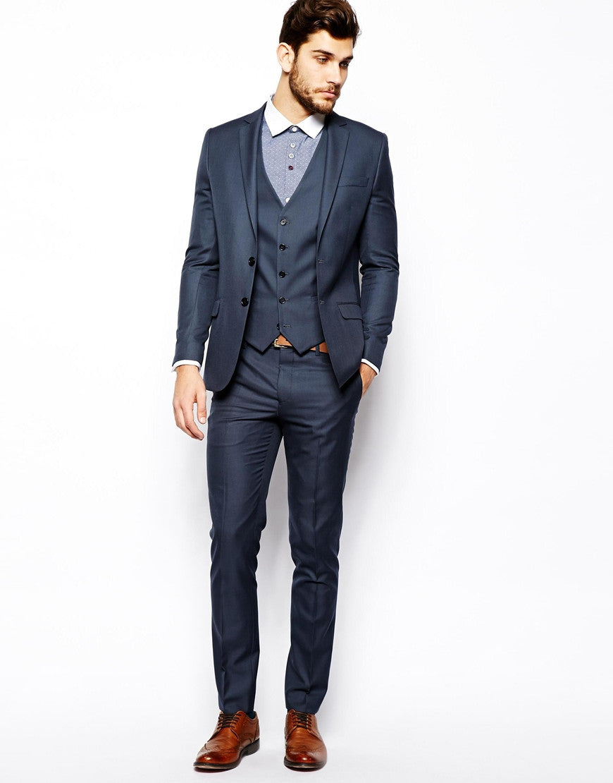Petrol Suit Jacket Skinny Fit Thumbnail