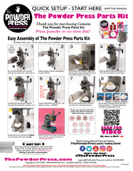 The Powder Press Parts Kit Instruction Manual Page 1 - Indie Cosmetic Powder Pressing Tool by ThePowderPress.com