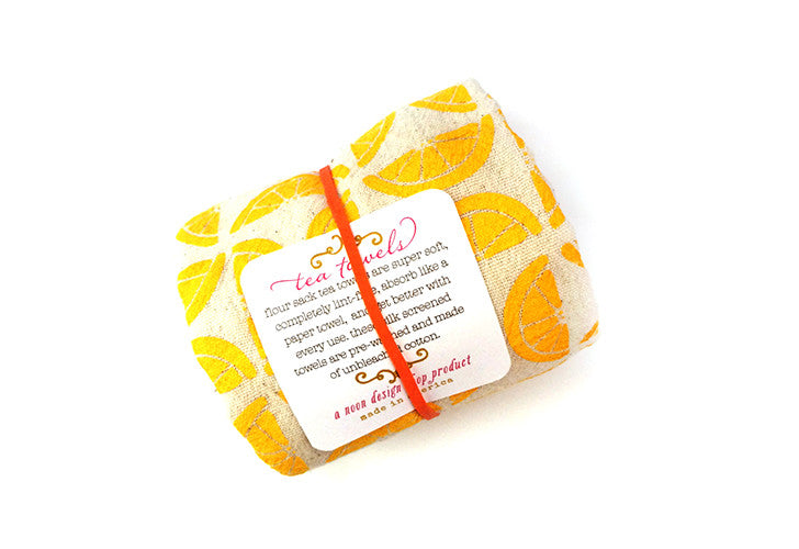 "Noon Designs ""Lemons"" Flour Sack Tea Towel"