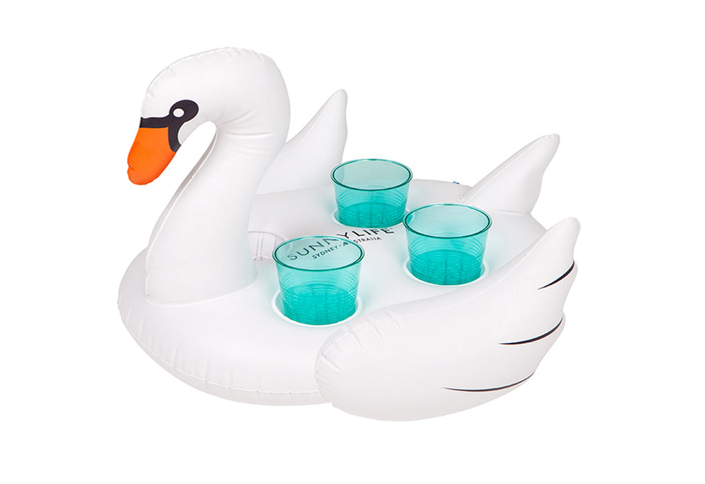 Sunnylife Inflatable Swan Drink Holder