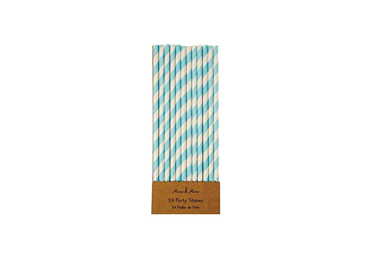 Meri Meri Blue and White Party Straws