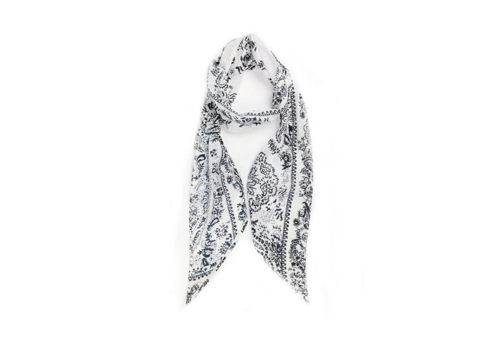 Michael Stars Porcelain Skinny Scarf in White