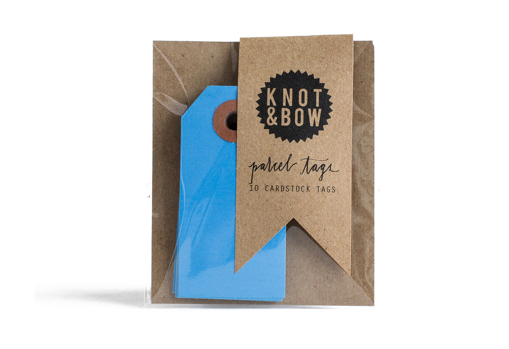 Knot & Bow Parcel Tags (Blue)