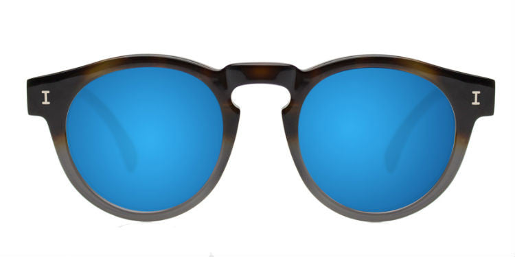 Illesteva Sunglasses Half Half Grey Blue Mirrored