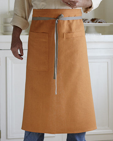 Bistro Apron in Copper Linen