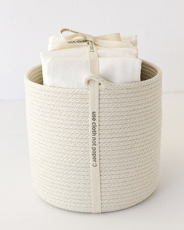 Flour Sack + Cord Basket Set - Large
