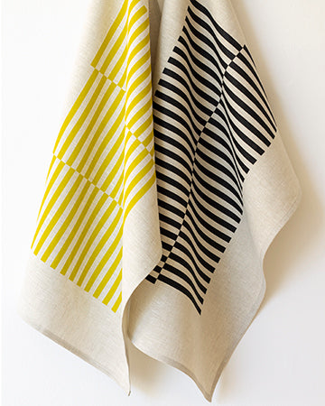 Ponti Tea Towel in Noir