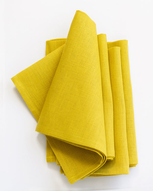 Linen Napkins in Citrine - Set of 4