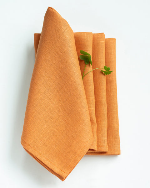 Linen Napkins in Copper - Set of 4