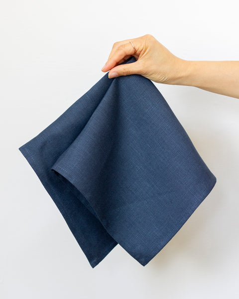 Linen Napkins in Slate-Blue - Set of 4