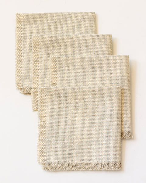 Linen Cocktail Napkins - Set of 4