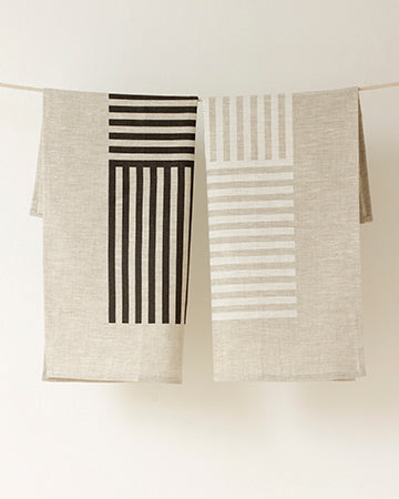Simply Stripes Tea Towel in Noir