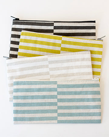 Ponti Stripe Zip Bag