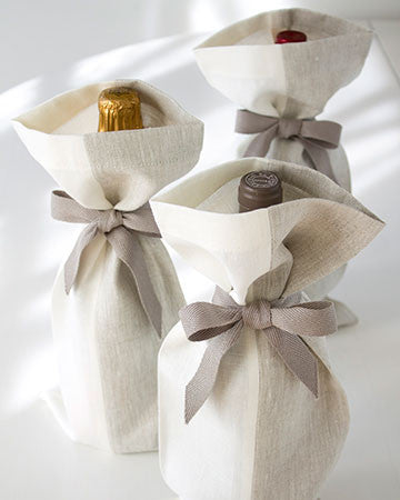 Linen Gift Bag Set of 3