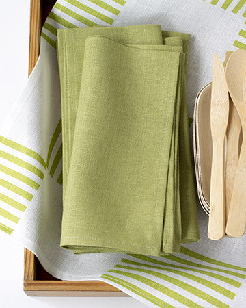 Linen Napkins in Fern - Set of 4