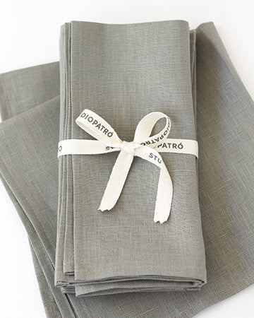 Linen Napkins in Graphite - Set of 4