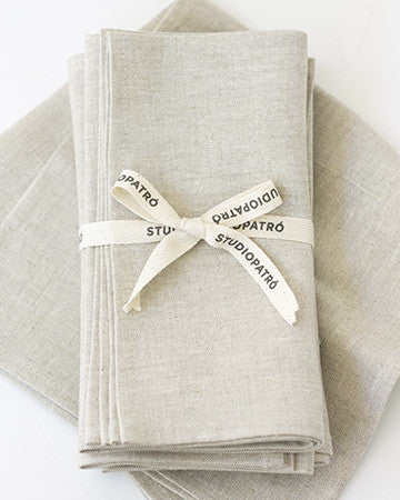 Linen Napkins in Oatmeal - Set of 4