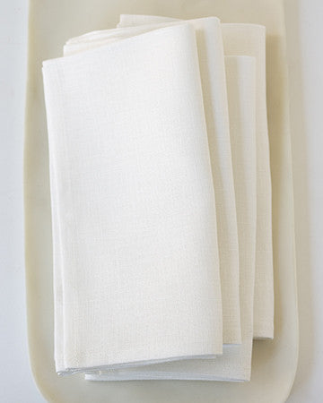 Linen Napkins in Oyster - Set of 4