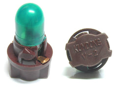 Kumdong T6.5 brown socket with green cap on bulb