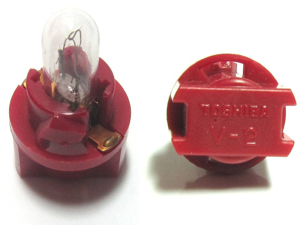 Toshiba V2 T5 Red Socket 9.5V 1.1W bulb