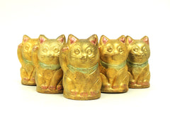 Chocolate Chinese Cats (Maneki Neko)