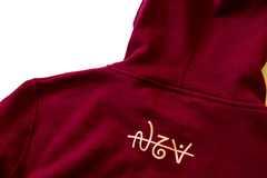 Staple script zip up hoodie
