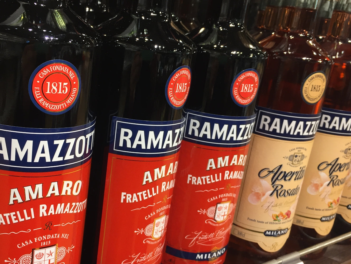 Photo of Ramazzotti Amaro and Aperitivo Rosso bottles