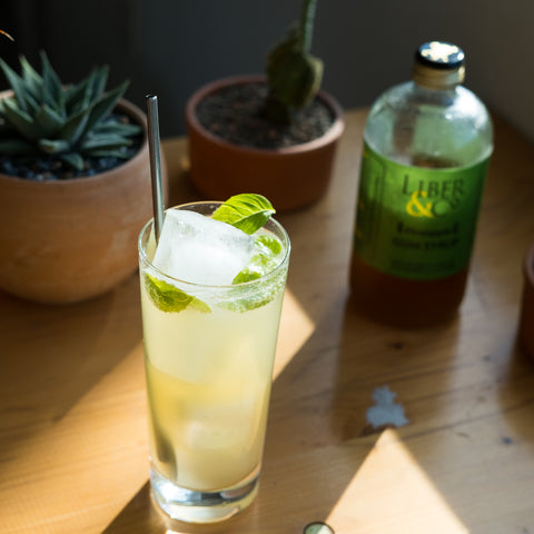 Pineapple Basil Limeade drink on table