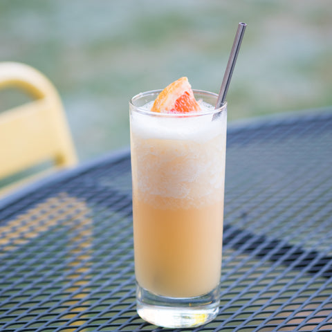 Frozen Ginger Paloma on outdoor table