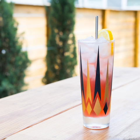 Gin Shasta cocktail on outdoor bar
