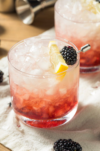 Bramble topped with Blackberries