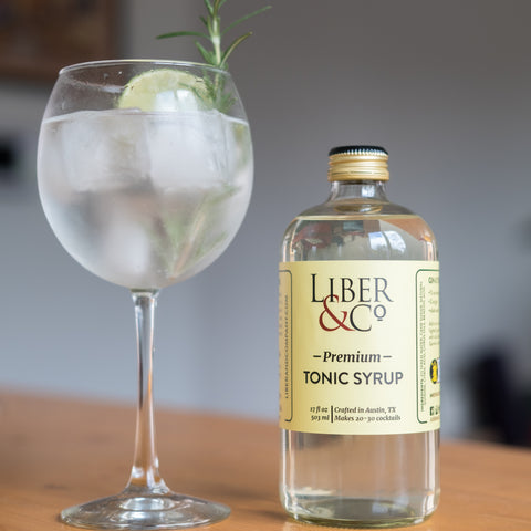 Spanish Style Gin and Tonic with Liber & Co. Premium Tonic Syrup