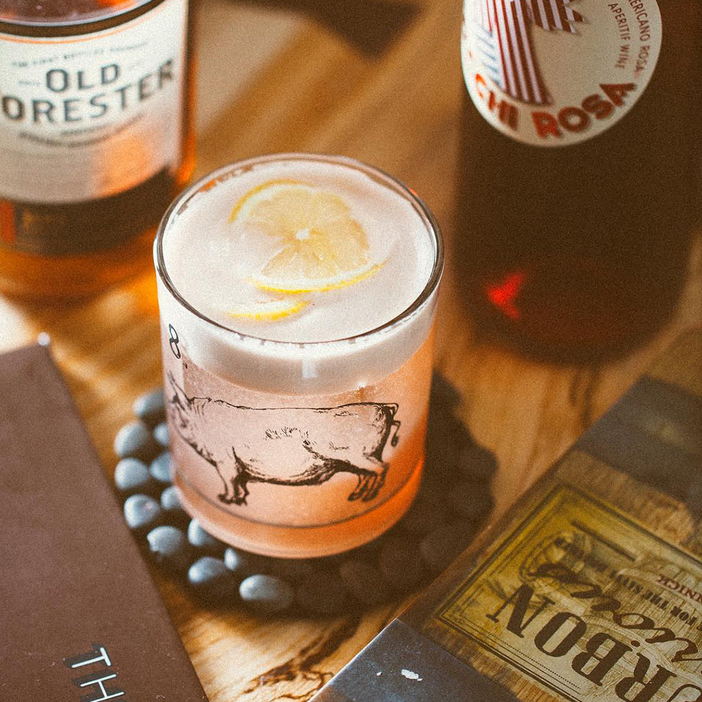 Whiskey Rosa Sour