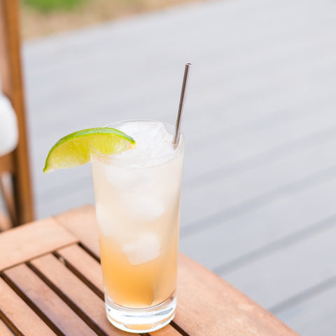 cocktail on outdoor table