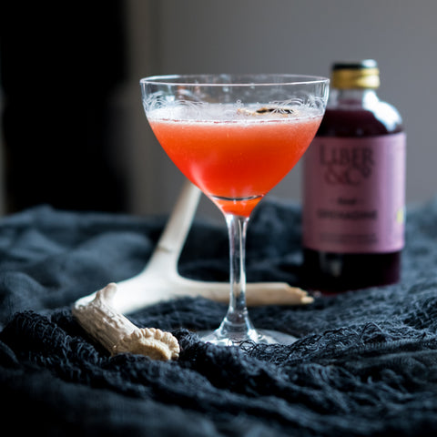 Kraken Cocktail on spooky tabletop
