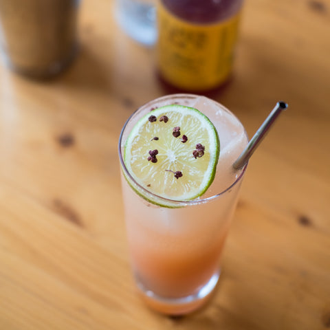 Mala Mule cocktail on indoor wooden table